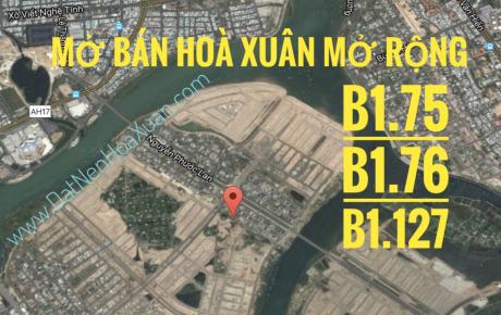 Ngày 30/6, sàn Sunland mở bán Hoà Xuân mở rộng - B1.75, B1.76 & B1.127.