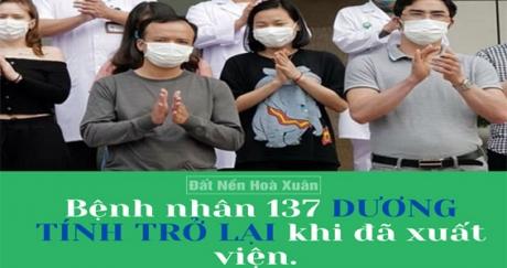 Bệnh nhân 137 dương tính TRỞ LẠI sau khi xuất viện 15 ngày!