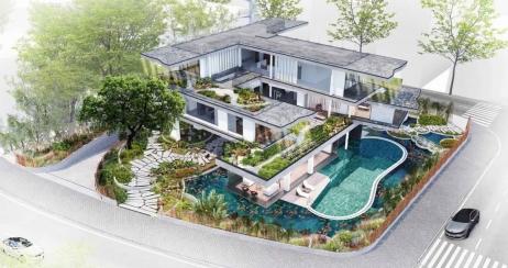 Một biệt thự ven sông Hoà Xuân sẽ có góc nhìn đẹp tới mức nào?