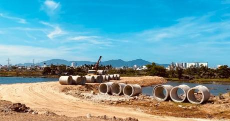Dạo một vòng xem tiến độ, cảnh quan Nam Hòa Xuân (5.5.2021)