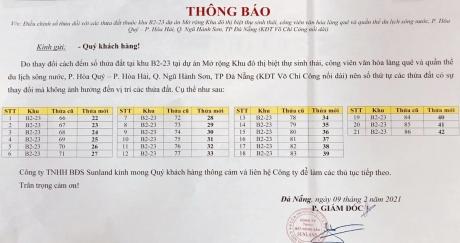 Thông báo: Thay đổi cách đếm số tại Block B2.23 Võ Chí Công