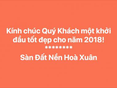 Quý khách hãy liên hệ ngay các chuyên viên Đất Nền Hoà Xuân để chọn 1 lô ''mở hàng'' 2018 nhé!